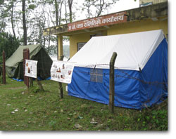 CNVR tented clinic