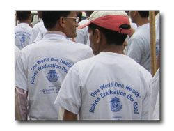 'Rabies Eradication Our Goal' - World Vet Day Parade